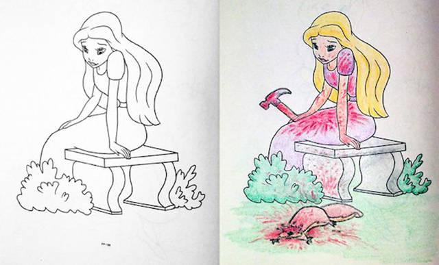 Тот момент, когда взрослые берут детские раскраски