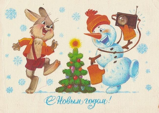 Красивые новогодние открытки времен СССР