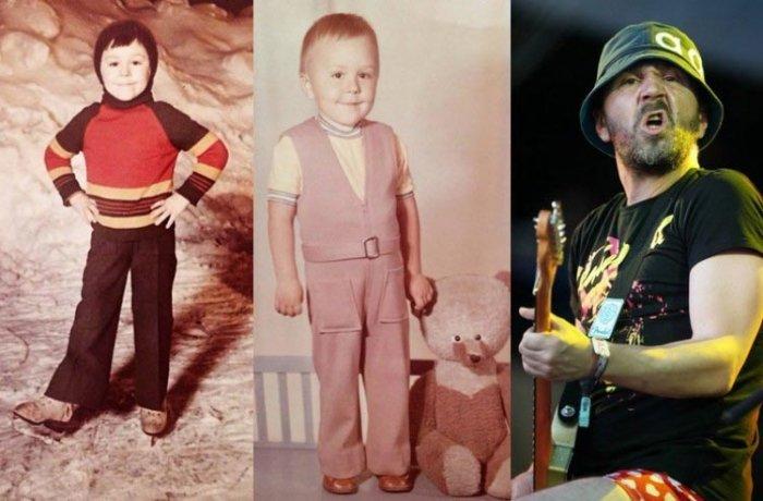 Знаменитые люди в детстве и сейчас