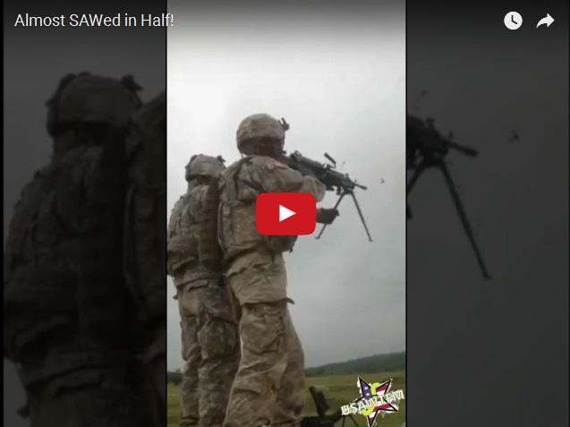 Американский солдат чуть не расстрелял сам себя из пулемета