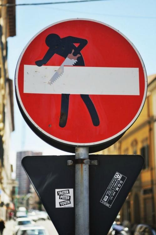 Креативные дорожные знаки от художника Клерта Абрахама