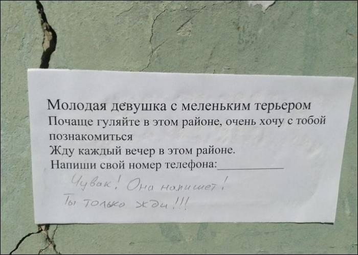 Прикольные народные надписи и улетные объявления