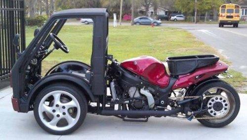 Самый странный тюнинг автомобилей и мотоциклов