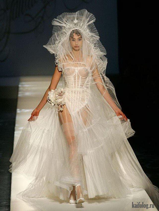 Прикольные белые платья