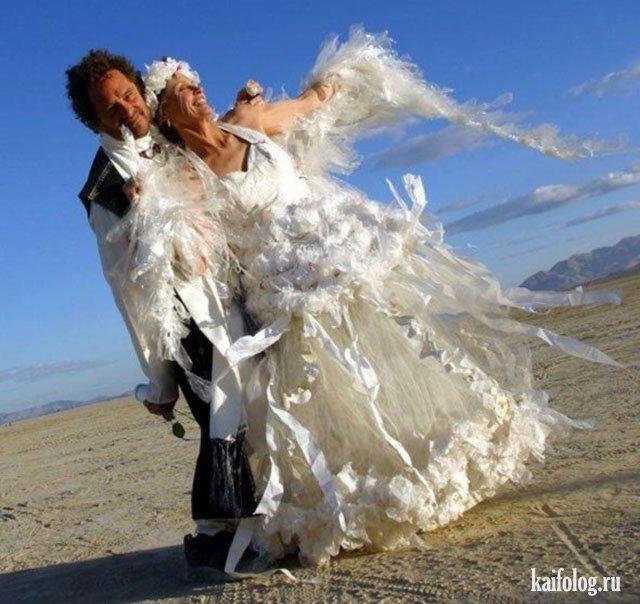 Самые нелепые и странные свадебные платья