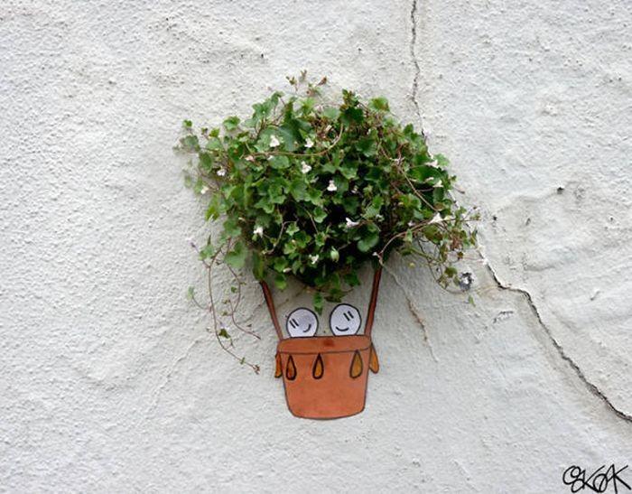 Природа в контексте уличного стрит-арта. Красивые картинки