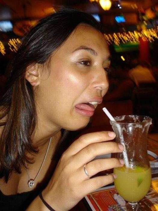Смешные лица людей после выпитого алкоголя
