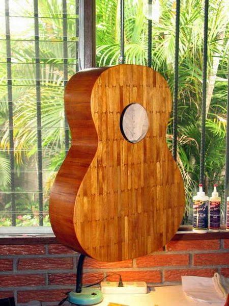 Как сделать гитару из палочек для мороженого