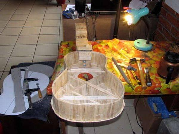 Своими руками гитару из подручных материалов 63