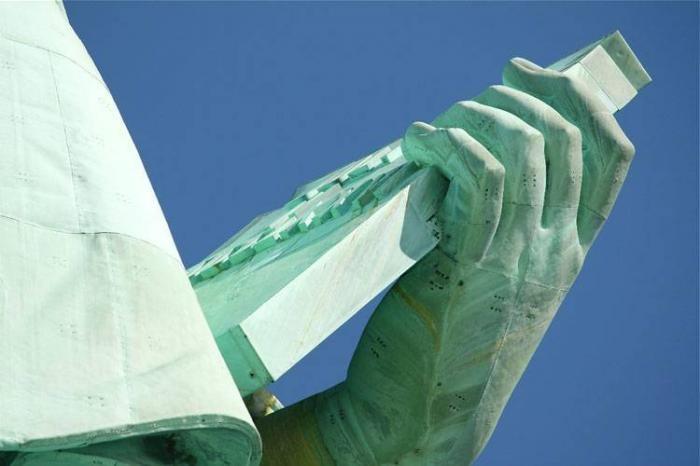 Как выглядит изнутри статуя Свободы