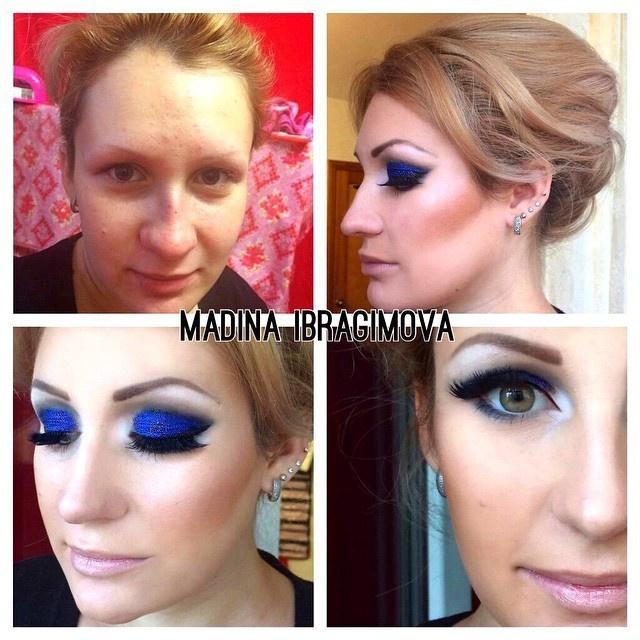 До и после - чудесное преображение после макияжа