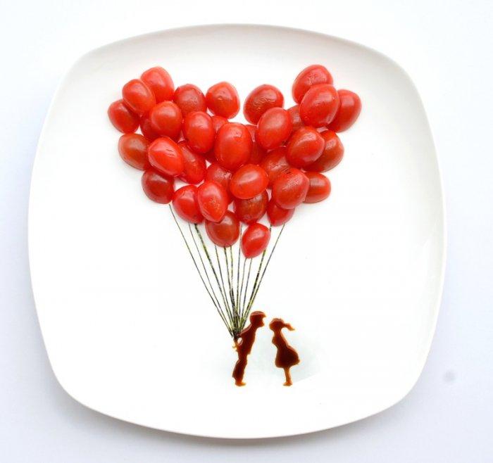 Прикольные инсталляции из еды