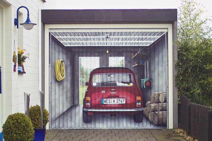 Тот момент, когда хозяин гаража - творческий человек