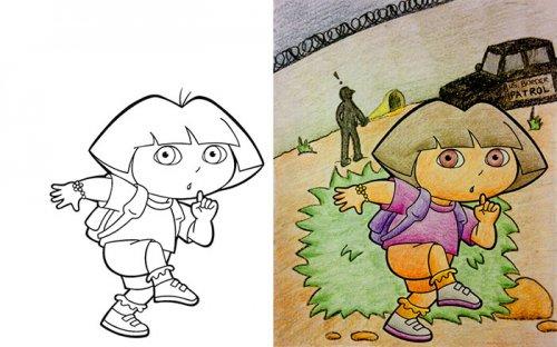 Прикольные раскраски для взрослых