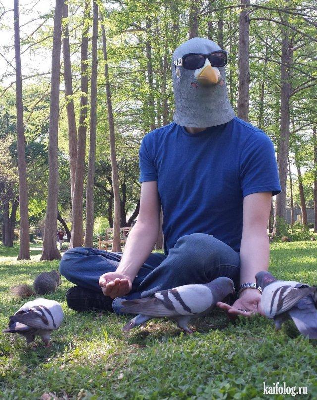Прикольная маскировка - креативные люди