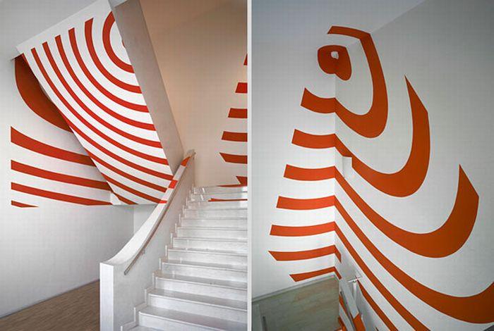 Прикольные иллюзии в интерьерах