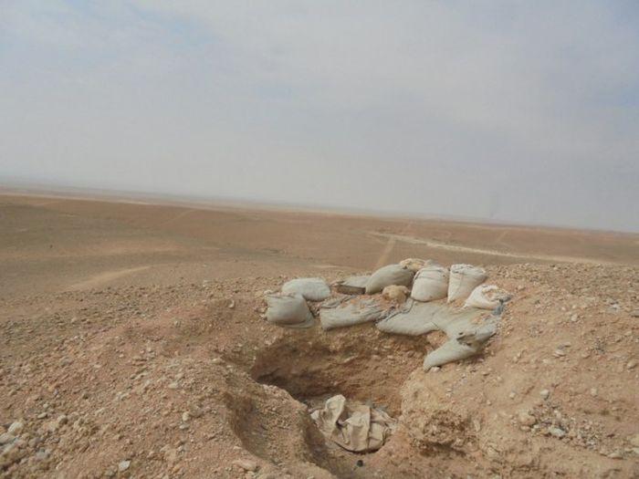 Фортификационные сооружения террористов в Сирии