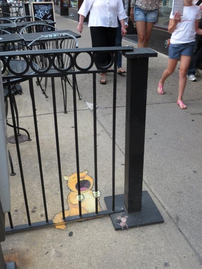 Подборка прикольного уличного стрит-арта