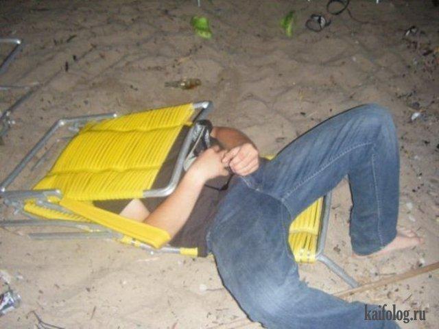 Сном младенца - приколы про пьяных людей