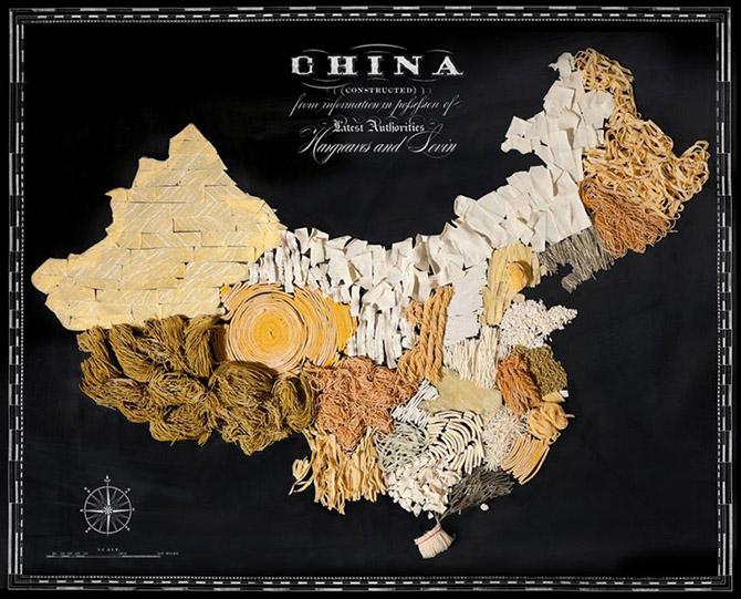 Прикольные карты стран из съедобных продуктов
