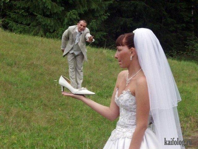 На ладошке - подборка свадебных маразмов