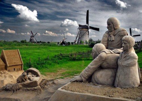 Потрясающие скульптуры из песка - красивые фото