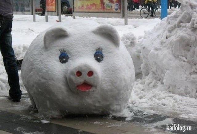 Приколы про снеговиков - зима пришла