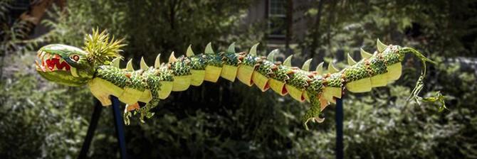 Прикольный карвинг - интересные поделки из арбузов