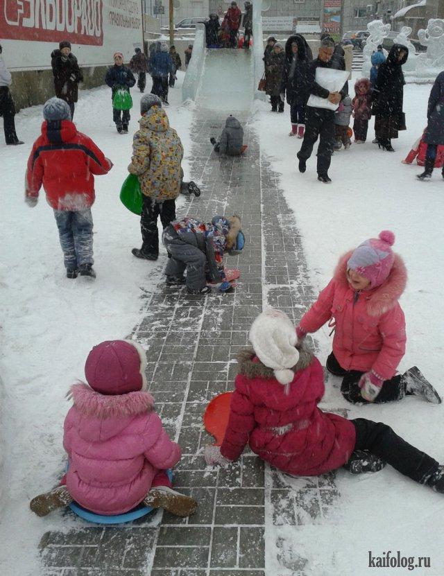 Ужасы российского ЖКХ -  горки на детских площадках