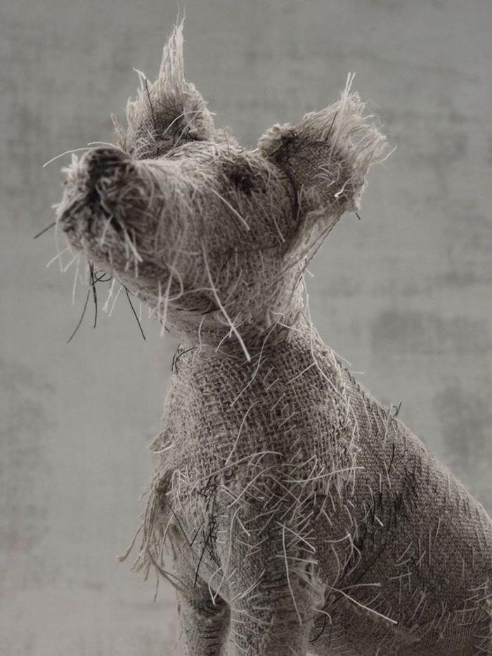 Потрясающе - скульптуры собак из старых тряпок