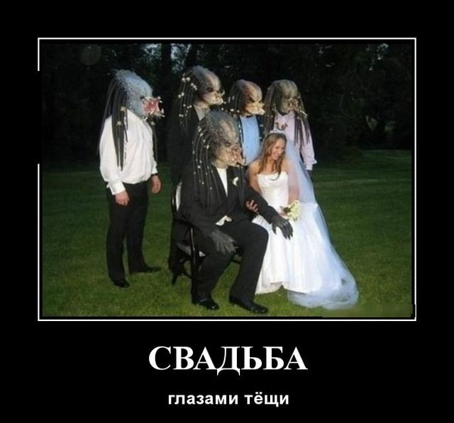 Про Сколково, свадьбу и тещу, а также женские вопросы - смешные демотиваторы
