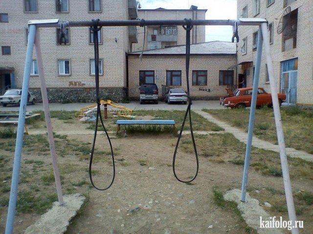 Самые жуткие и ужасные детские площадки