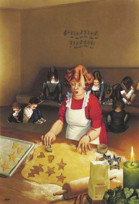 Проблемы современного общества глазами художника Герхарда Хадерера