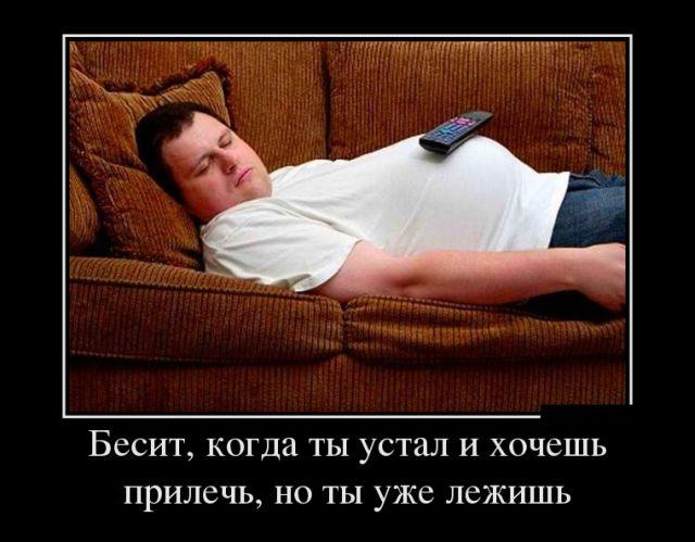 Про усталость, разделение труда и силу привычки - прикольные демотиваторы