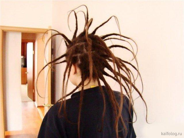 Тот момент, когда лень мыть волосы