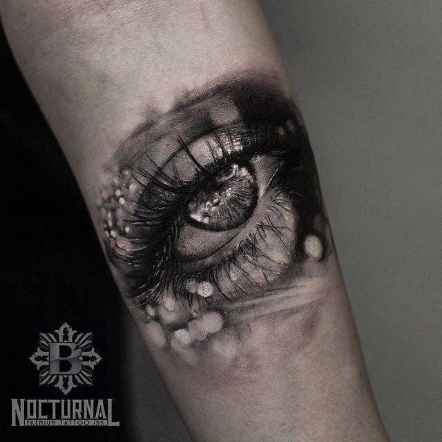 Самые реалистичные черно-белые тату