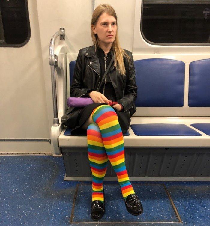 Модники и модницы - подборка треша в метро