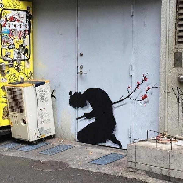 Прикольный стрит-арт - красивые картинки