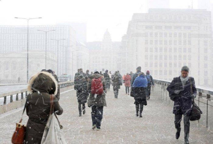 В Великобритании неожиданно выпал снег