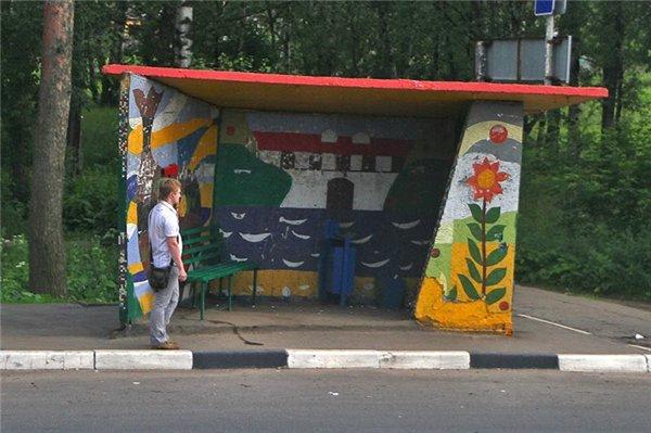 Самые креативные автобусные остановки