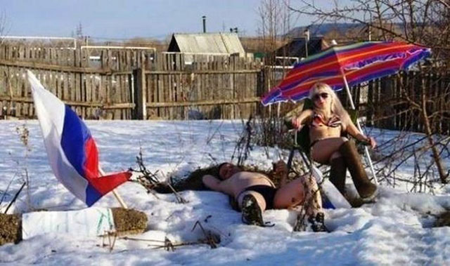 Подборка приколов про зиму из социальных сетей