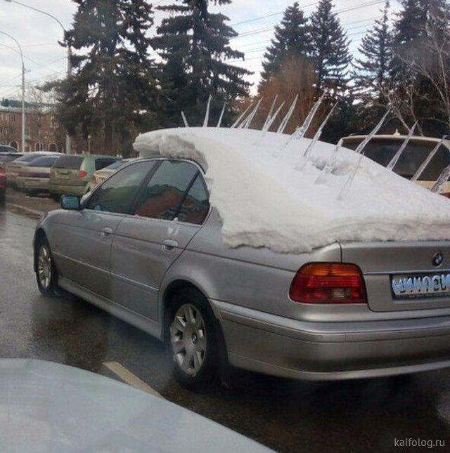 Свежая подборочка автомобильных приколов - смешное на дорогах