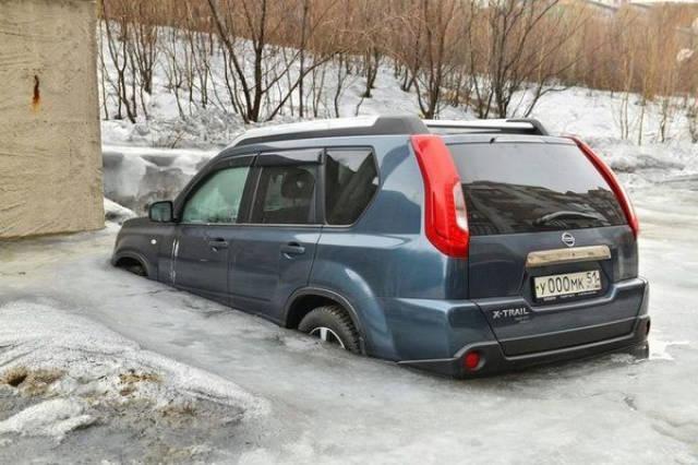 Прикольные  картинки про русскую зиму