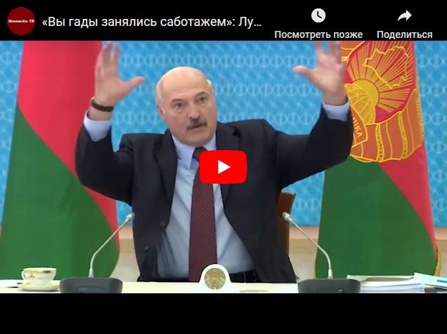 «Вы гады занялись саботажем»: Лукашенко демонстративно уволил двух министров в эфире
