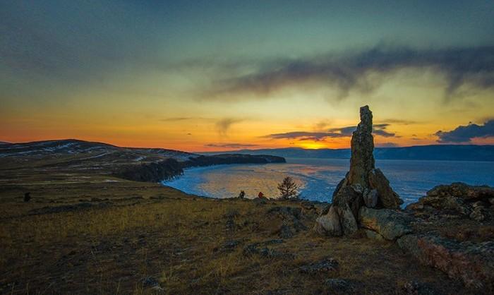 Красивые фото зимнего Байкала