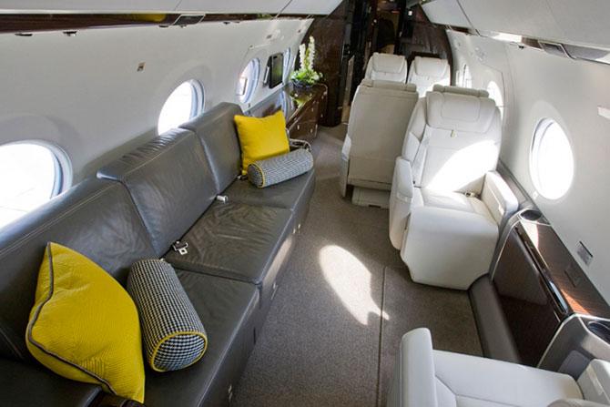 Самолеты миллионеров изнутри - роскошные интерьеры