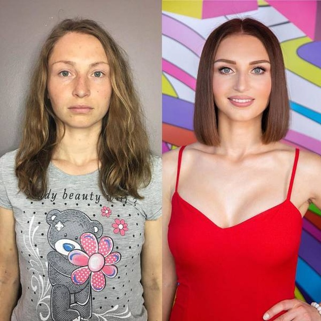 Чудеса макияжа - до и после. Неожиданное фото