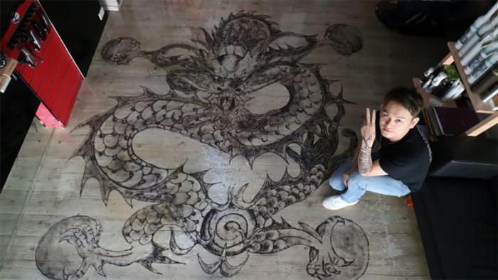 Картины из волос от известного китайского парикмахера