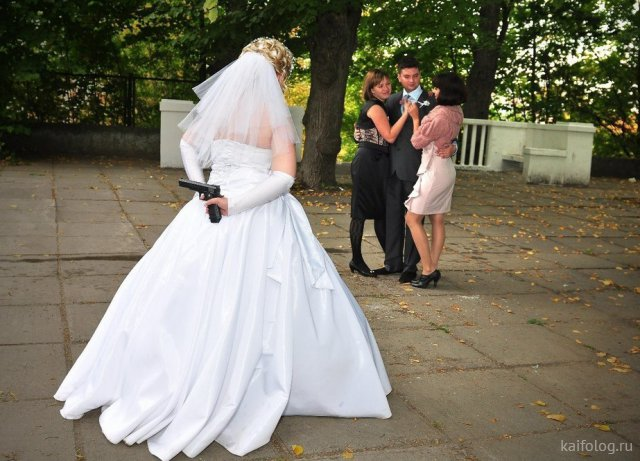 Подборка веселых свадебных фото