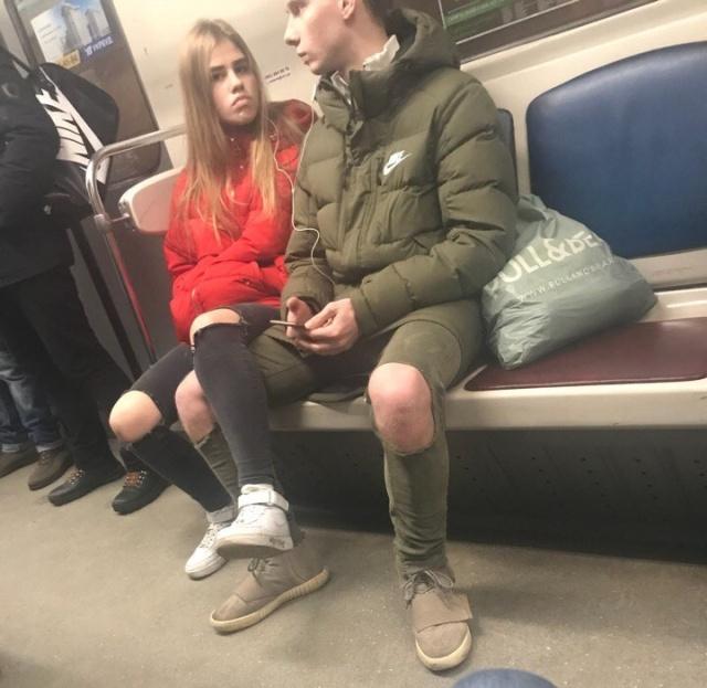 И снова модники из метро. Городские сумасшедшие